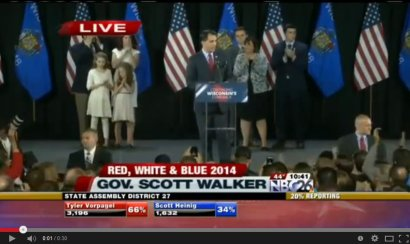 Scott Walker's Victory Speech: Natural, Organic, Bottom-Up Solutions